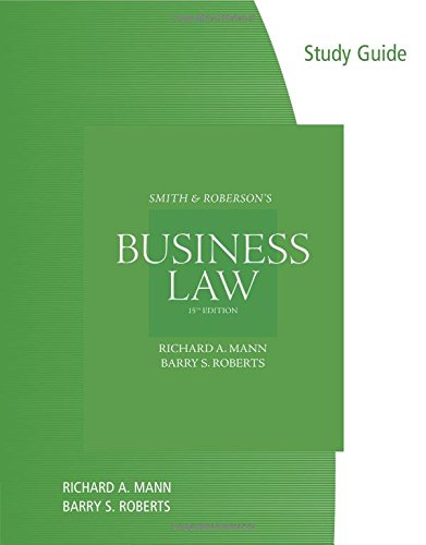 9780538475808: Study Guide for Mann/Roberts' Smith and Roberson's Business Law, 15th