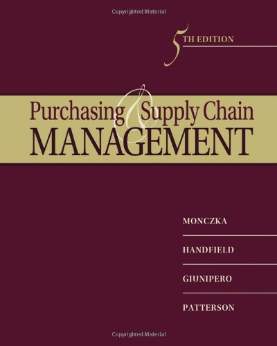 9780538476423: Purchasing and Supply Chain Management