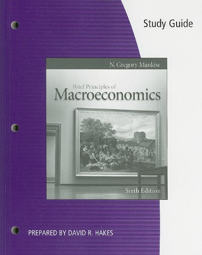 9780538477062: Study Guide for Mankiw's Brief Principles of Macroeconomics, 6th