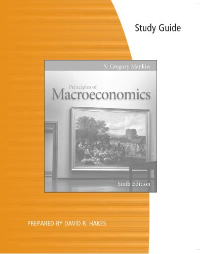 9780538477208: Study Guide for Mankiw's Principles of Macroeconomics, 6th
