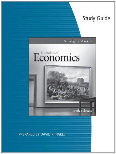 9780538477215: Study Guide for Mankiw's Essentials of Economics, 6th