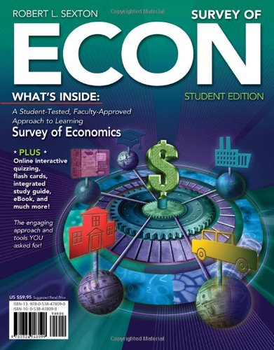 Survey of ECON (with Printed Access Card) (Available Titles CourseMate) (9780538478090) by Sexton, Robert L.