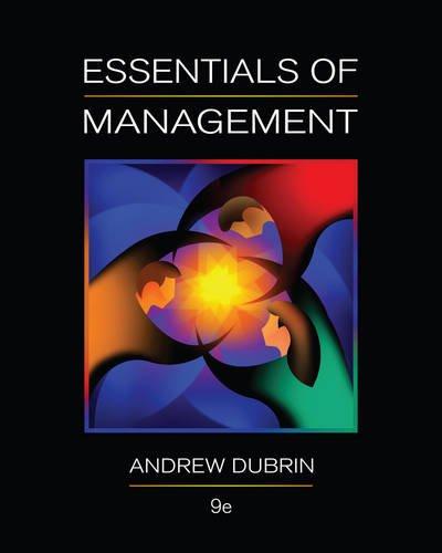 Essentials of Management: Dubrin, Andrew J.