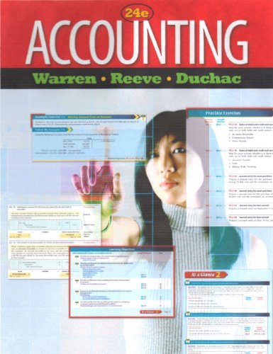 Accounting 24th Edition Instructors Edition