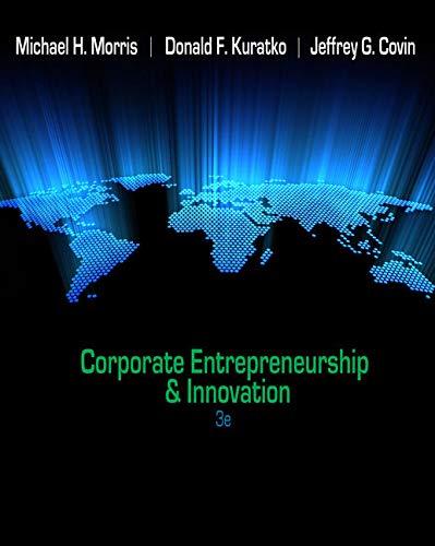 9780538478922: Corporate Entrepreneurship & Innovation