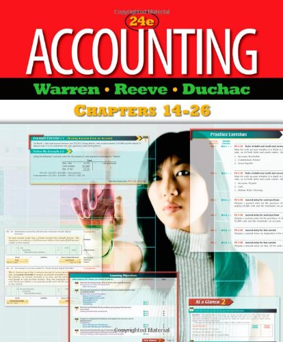 Accounting: Chapters 14-26: Carl S. Warren,