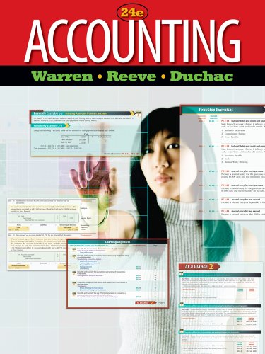 Study Guide, Chapters 14-26 for Warren/Reeve/Duchac's Accounting, 24th (9780538479073) by Carl S. Warren; James M. Reeve; Jonathan Duchac