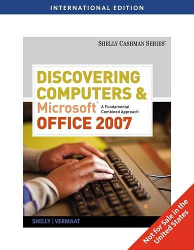 9780538479349: Discovering Computers and Microsoft Office 2007: A Fundamental Combined Approach