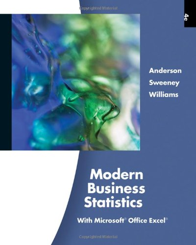 Modern Business Statistics with Microsoft Excel (with Printed Access Card) (Hardback): David R ...