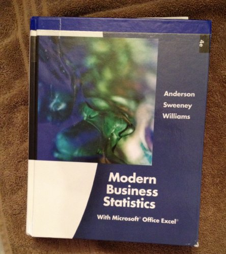 9780538479769: Modern Business Statistics with Microsoft Office Excel