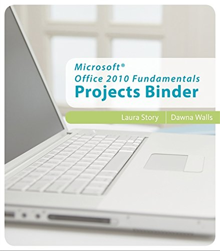 9780538479899: Microsoft Office 2010 Fundamentals Projects Binder (Origins)