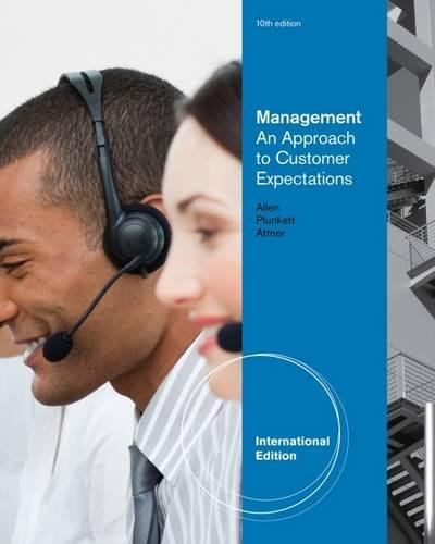 9780538480550: Management: An Approach to Customer Expectations, International Edition
