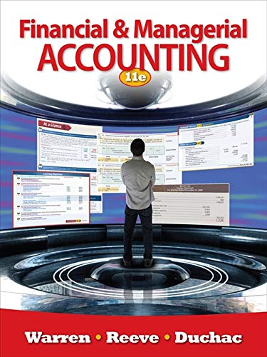 Financial & Managerial Accounting: Carl S. Warren,