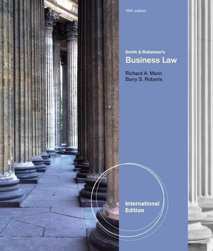 9780538480956: Smith and Roberson's Business Law. by Richard Mann, Barry Roberts