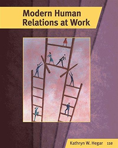 Modern Human Relations at Work (Hardback): Kathryn W Hegar