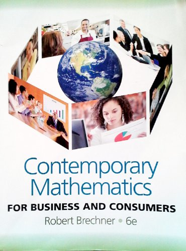 9780538481267: Contemporary Mathematics For Business and Consumers, 6th Edition