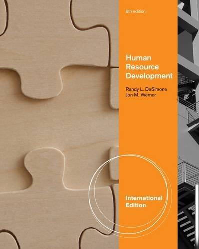 9780538481359: Human Resource Development. Randy L. Desimone and Jon M. Werner