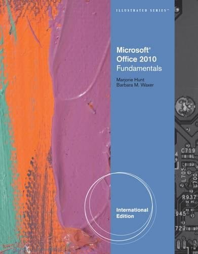 9780538481403: Microsoft Office 2010: Illustrated Fundamentals (Illustrated (Course Technology))