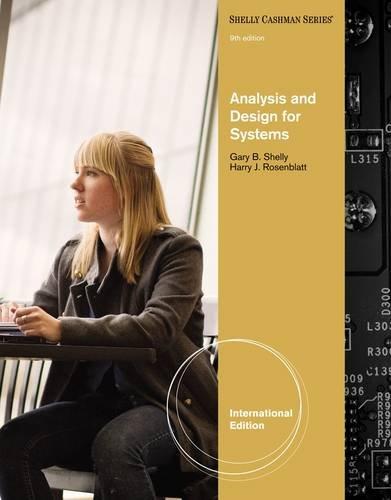 9780538481625 Analysis And Design For Systems Shelly Cashman Series Abebooks Shelly Rosenblatt 0538481625