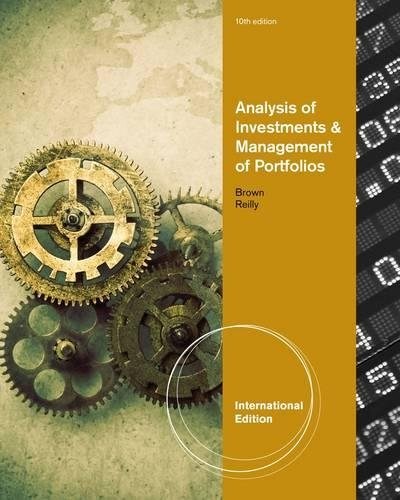 9780538482486: Brown, K: Analysis of Investments and Management of Portfol (International Edition)
