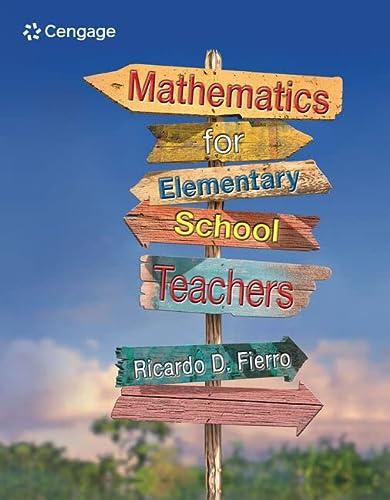 Mathematics for Elementary School Teachers: Process Approach: Ricardo D. Fierro