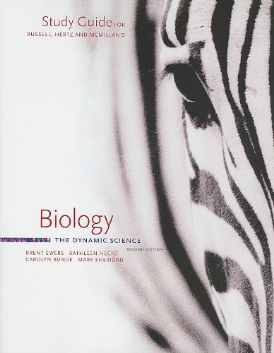 9780538493666: Study Guide for Russell/Hertz/McMillan's Biology: The Dynamic Science, 2nd