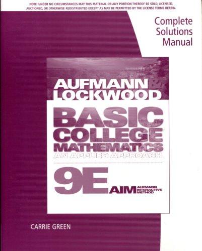 9780538493949: Csm Basic College Math 9e