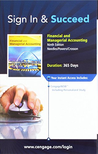 Financial and Managerial Accounting Cengage Access Code: Needles/Powers/Crosson