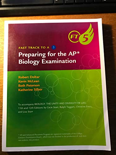 9780538495042: Fast TRack to a 5-Preparing for the AP Biology Exam to accompnay Biology: The Unity and Diversity of Life 11th and 12th editions by Kevin McLean, Beth Peterson, Katherine S (2009) Paperback