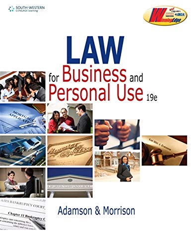 9780538496902: Law for Business and Personal Use (Business Law)