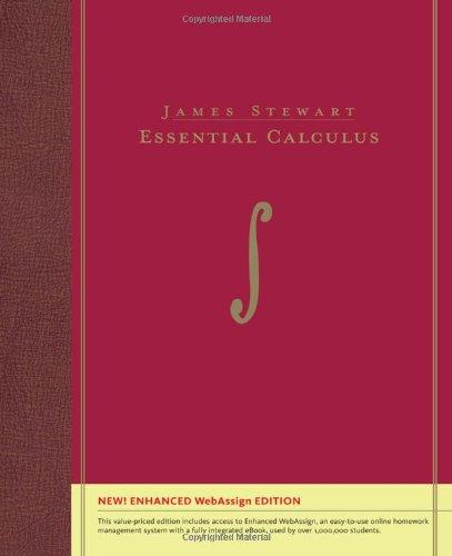 Essential Calculus, Enhanced Edition (with Enhanced WebAssign: James Stewart