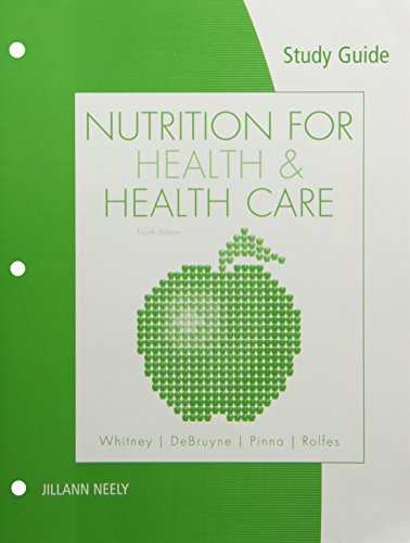 9780538497947: Study Guide for Whitney/DeBruyne/Pinna/Rolfes' Nutrition for Health and Health Care, 4th