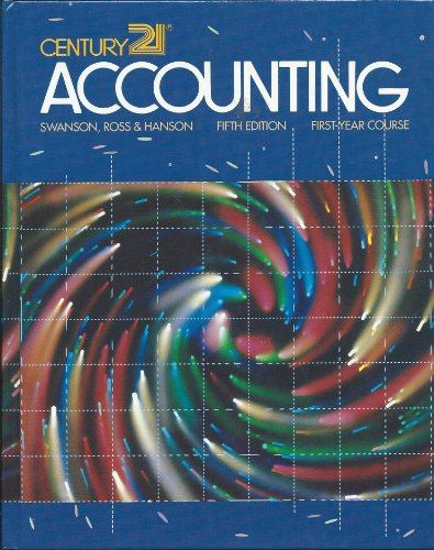 Century 21 Accounting First Year Course 5th Edition