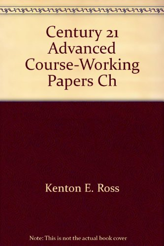 Century 21 Accounting, Advanced Course, Sixth Edition: Chapters 1-11 Student Working Papers And ...