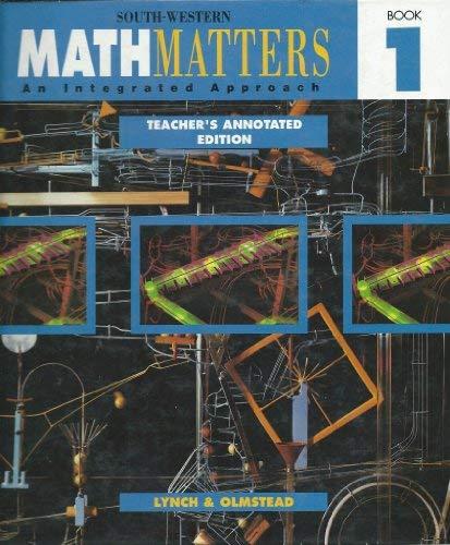 Math Matters, Book 1: An Integrated Approach