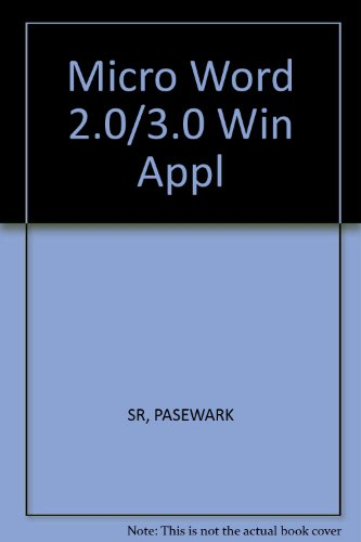 9780538651943: Microsoft Words 2.0/3.0 for Windows: Applications for Reinforcement