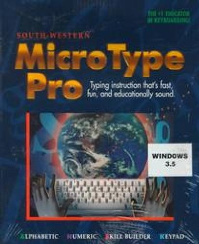 9780538675567: Microtype Pro: Typing Instruction That's Fast, Fun, and Educationally Sound (only 3.5-inch diskette)