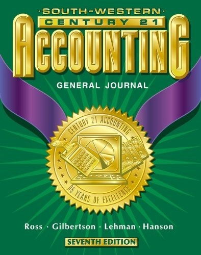 9780538676717: Century 21 Accounting General Journal Approach: Student Textbook, Chapters 1-26