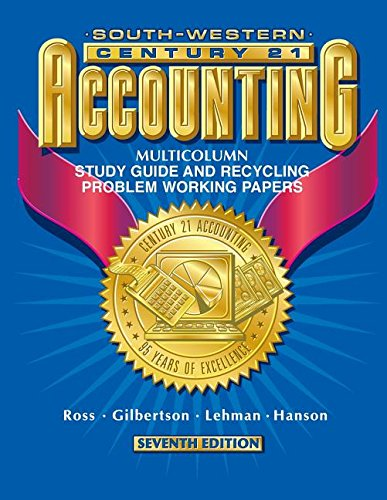9780538677028: Century 21 Accounting First Year Course: Working Papers for Demonstration and Recycling Problems