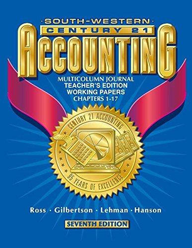 9780538677363: Century 21 Accounting Multicolumn Journal