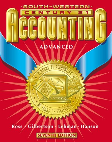 9780538677462: Century 21 Accounting 7E Advanced Course - Text: Chapters 1-24