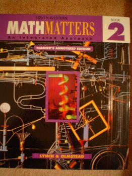 9780538681100: Math Matters An Intregrated Approach Book Two (Teacher's Annotated Edition)