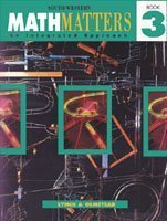 MathMatters: An Integrated Approach, Book 3: Lynch, Chicha; Olmstead,