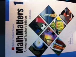 Math Matters 1 Annotated Teacher's Edition 2nd: Lynch; Olmstead; Forest-Davis,