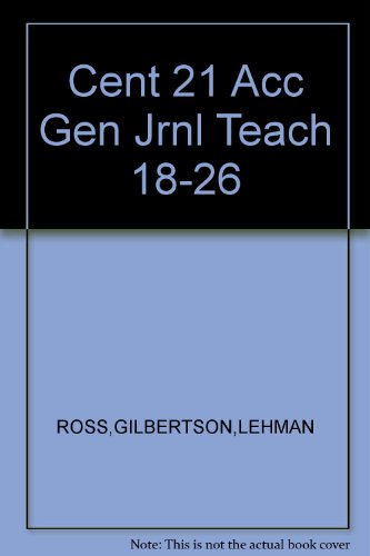 South-western Century 21 Accounting, General Journal Wraparound Teacher's Edition Chapter&#x27...