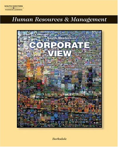 Corporate View: Human Resources & Management (0538699787) by Karl Barksdale