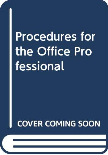9780538700177: Procedures for the Office Professional