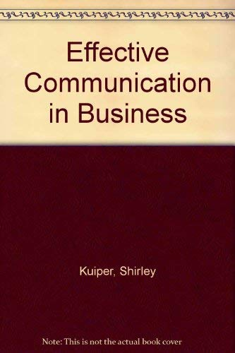 9780538705455: Effective Communication in Business