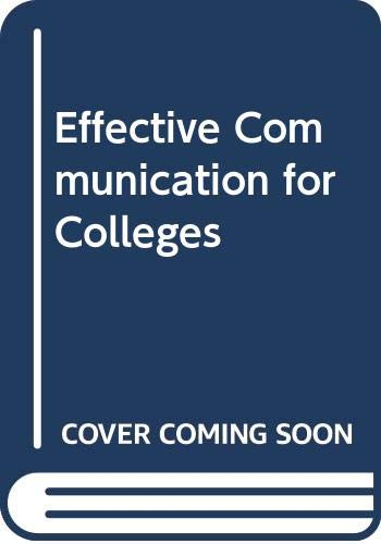 9780538709132: Effective Communication for Colleges
