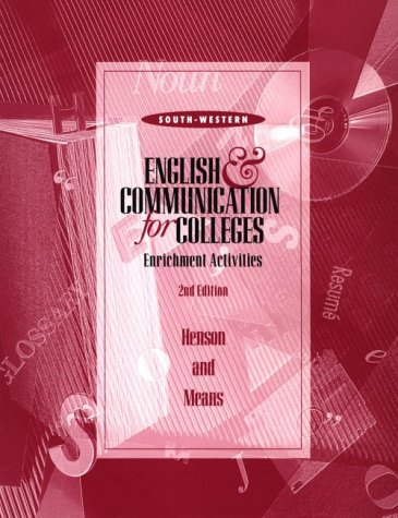 9780538711395: English and Communication for Colleges: Student Workbook